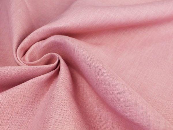 Фото 4 - Ткань льняная нежно-розовая ширина 220 см лен 100%.