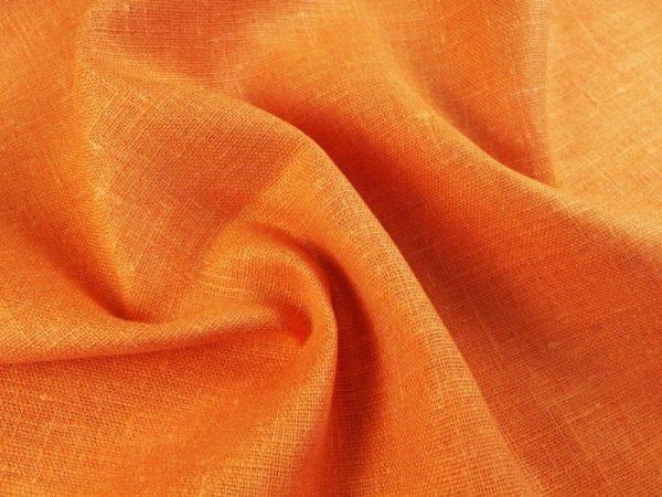 Фото 4 - Ткань декоративная рогожка льняная, терракот.
