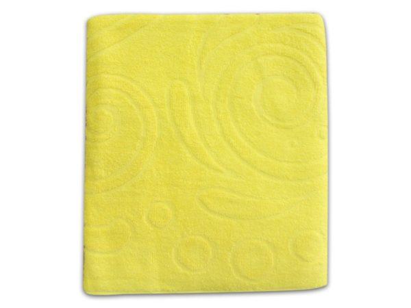 """Фото 3 - Полотенце махровое """"Завитки"""", цвет желтый."""