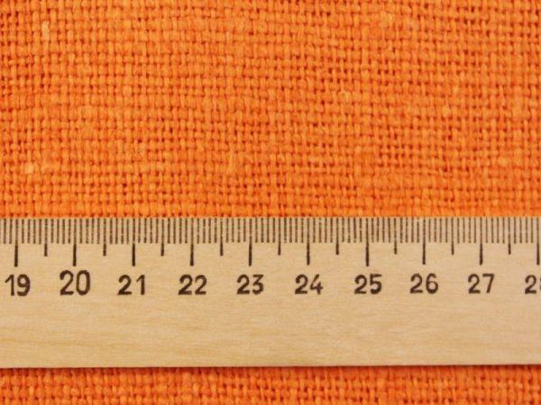 Фото 5 - Ткань декоративная рогожка льняная, терракот.