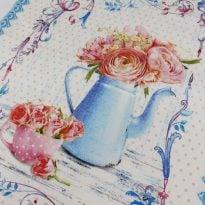 Полотенце Романтика  лен 100% цвет голубой