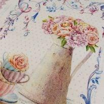 Полотенце Романтика  лен 100% цвет розовый