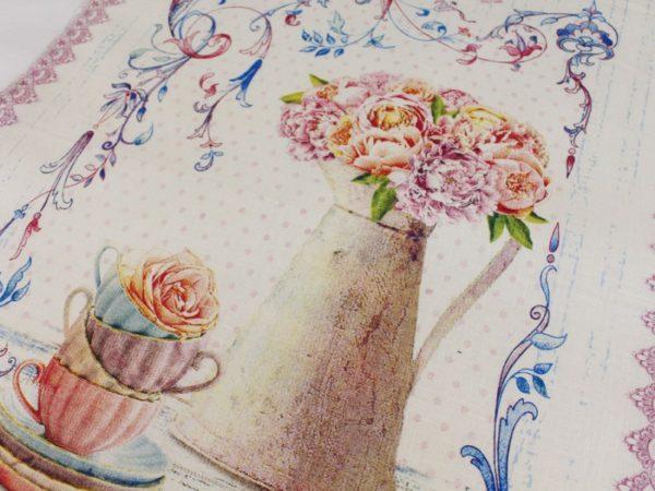 Фото 3 - Полотенце Романтика  лен 100% цвет розовый.
