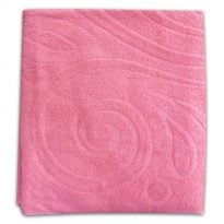 """Фото 11 - Полотенце махровое """"Завитки"""", цвет розовый."""
