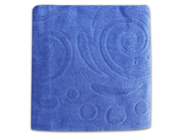 "Фото 3 - Полотенце махровое ""Завитки"", цвет светло-синий."