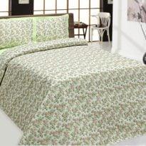 """Фото 6 - Комплект постельного белья 100% лен """"Цветы"""", 2 спальный."""