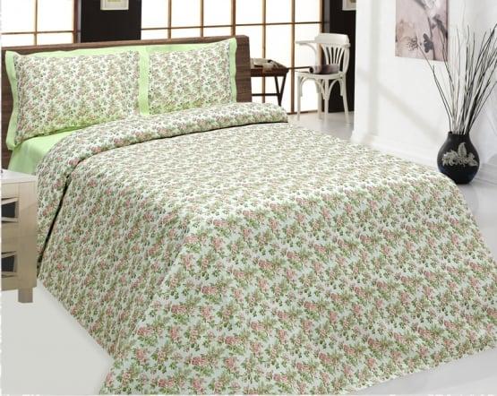 """Фото 3 - Комплект постельного белья 100% лен """"Цветы"""", 2 спальный."""