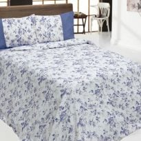 """Фото 14 - Комплект постельного белья льняной """"Цветы"""" евро."""