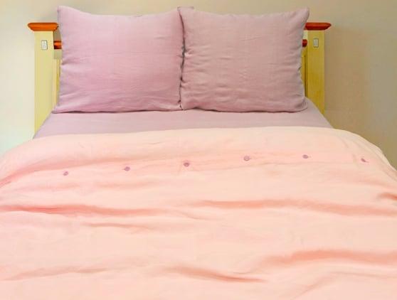 Комплект постельного белья из 100% льна, 1.5 спальный