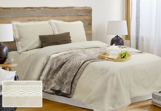 Комплект постельного белья льняной евро
