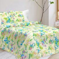 """Фото 7 - Комплект постельного белья льняной """"Райская птица"""" 2 спальный."""