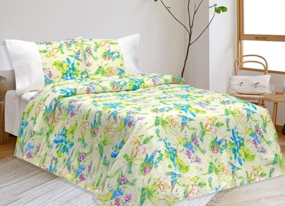 """Фото 3 - Комплект постельного белья льняной """"Райская птица"""" 2 спальный."""