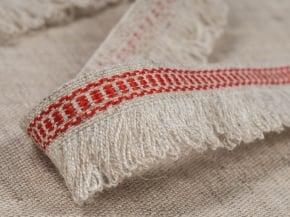 Фото 4 - Тесьма  отделочная  с бахромой (красный).