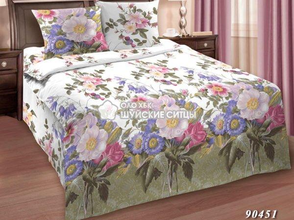 Фото 3 - Комплект постельного  Шуйский Классический (ситец) 90451.