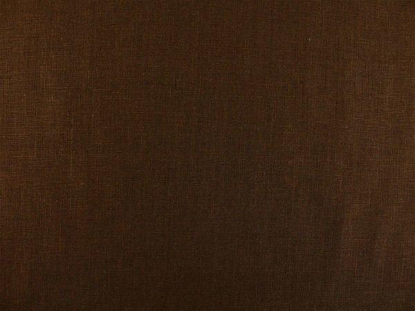 Фото 4 - Ткань умягченная  лен 100% темно-коричневый ширина 150см.