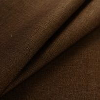 Фото 22 - Ткань льняная, ширина 260 см, лен 100% темно-коричневая.