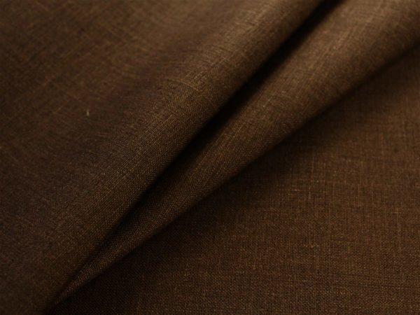 Фото 6 - Ткань умягченная  лен 100% темно-коричневый ширина 150см.