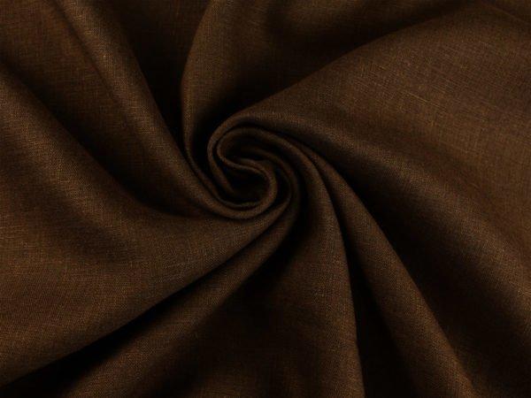 Фото 7 - Ткань умягченная  лен 100% темно-коричневый ширина 150см.