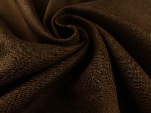 Фото 3 - Ткань умягченная  лен 100% темно-коричневый ширина 150см.