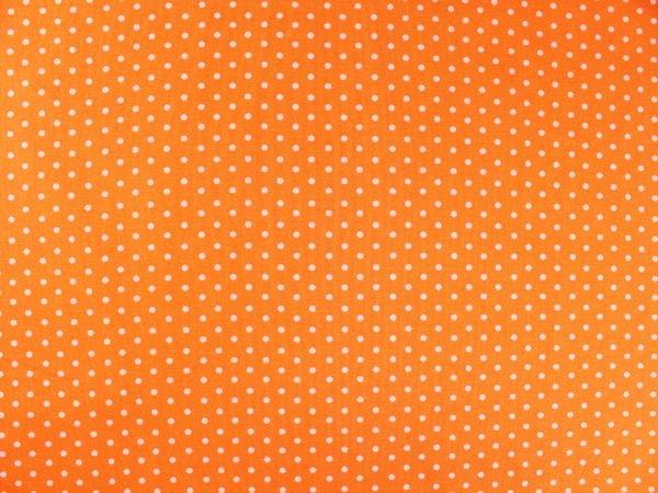 Фото 5 - Ткань льняная мелкий белый горох на оранжевом.