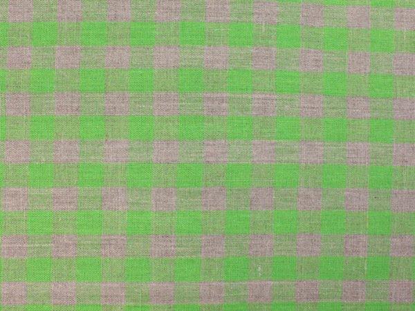 Фото 4 - Ткань льняная серо-зеленая  клетка, плотная.