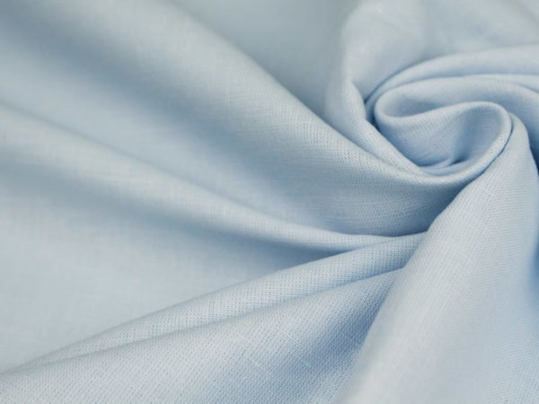 Фото 4 - Ткань льняная  серо-голубая ширина 1.8 м лен 100%.