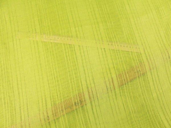 Фото 8 - Ткань льняная декоративная, цвет лайма, ширина 2,0.