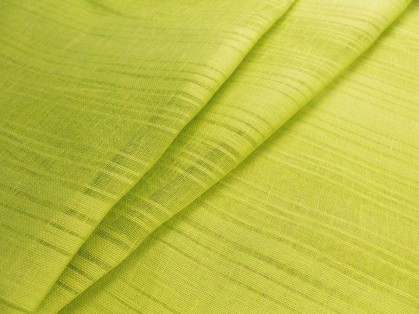 Фото 3 - Ткань льняная декоративная, цвет лайма, ширина 2,0.