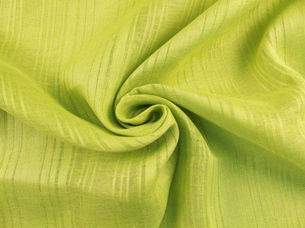 Фото 9 - Ткань льняная декоративная, цвет лайма, ширина 2,0.