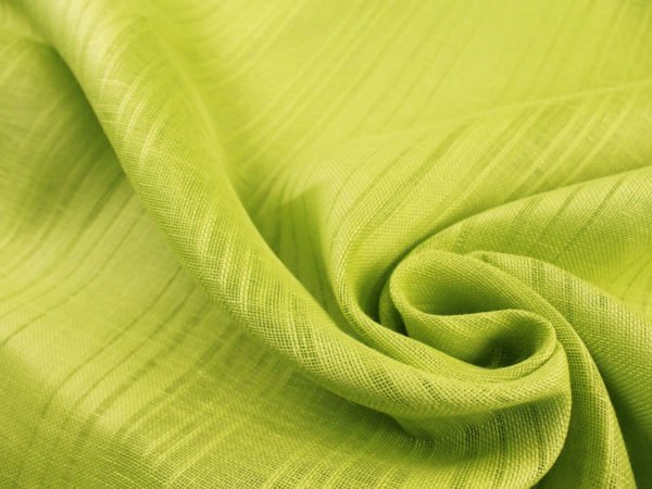 Фото 4 - Ткань льняная декоративная, цвет лайма, ширина 2,0.