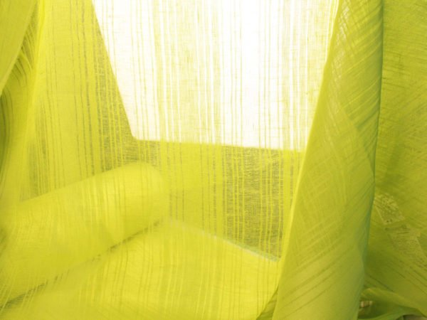 Фото 10 - Ткань льняная декоративная, цвет лайма, ширина 2,0.