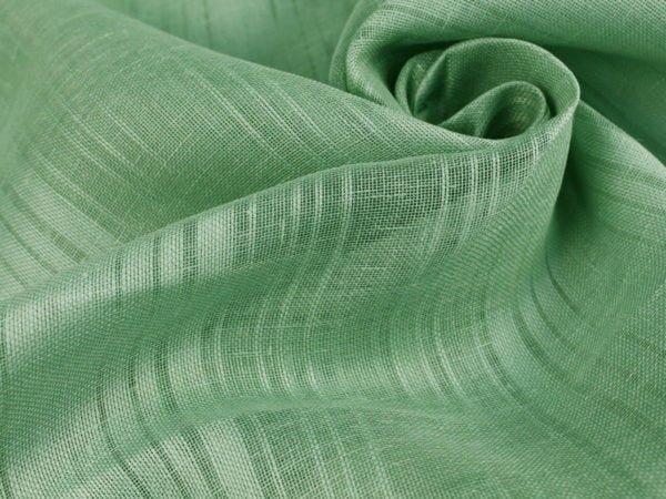 Ткань льняная декоративная мятная, ширина 2,0