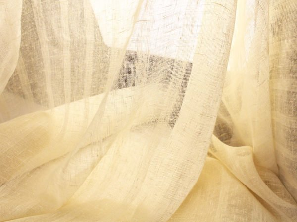 Фото 6 - Шторы льняные (лен 100%) 150*260см  цвет молочный.