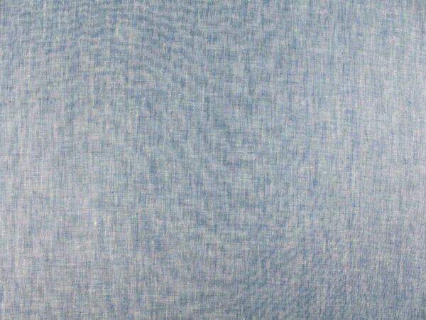 Фото 4 - Ткань костюмная меланжевая голубая.