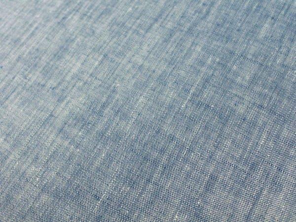 Фото 5 - Ткань костюмная меланжевая голубая.