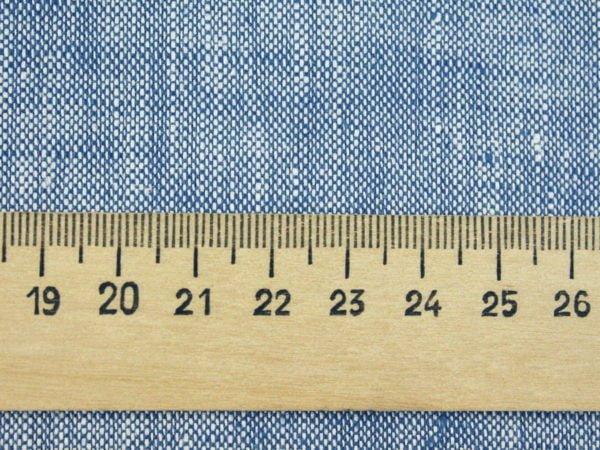 Фото 6 - Ткань костюмная меланжевая голубая.