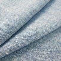 Фото 20 - Ткань костюмная меланжевая голубая.
