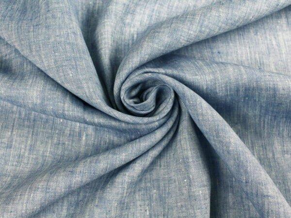 Фото 7 - Ткань костюмная меланжевая голубая.