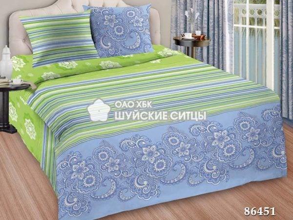 Фото 3 - Комплект постельного белья  Креп De Luxe 86451.