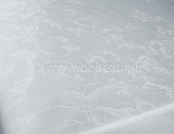 """Фото 6 - Скатерть 100% лен """"Ренессанс"""" серо-графитовая с мережкой 150*150."""