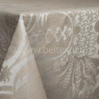 """Фото 22 - Скатерть льняная """"Шелк"""" шоколадно-бежевая 178*229."""