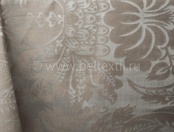 """Фото 6 - Скатерть льняная """"Шелк"""" шоколадно-бежевая 178*229."""