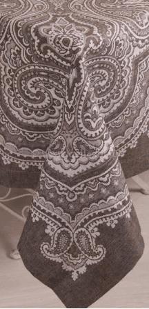 """Фото 5 - Скатерть лен 100% """"Бахчисарай"""" шоколадная 178*178."""