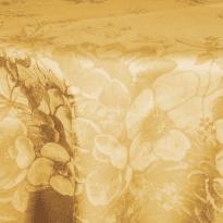 """Фото 18 - Скатерть льняная овальная  """"Фиалка"""" желтая 178*250."""