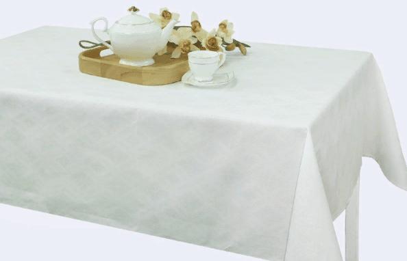 Фото 5 - Скатерть льняная белая 143*250.