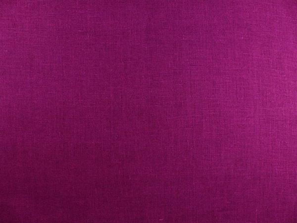 Ткань льняная  темно-фиолетовая, умягченная лен 100%