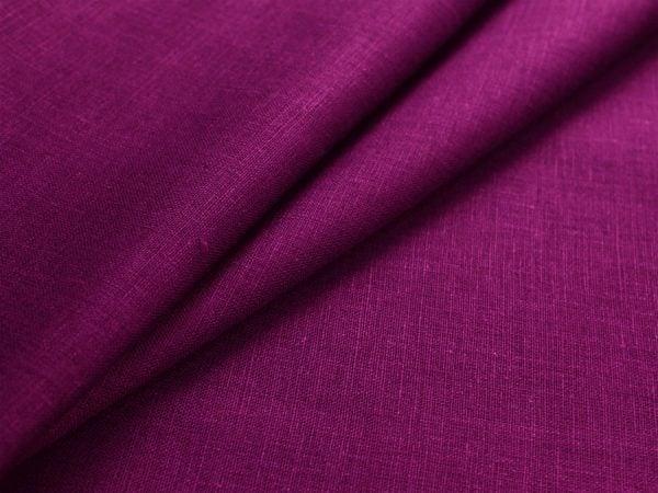 Фото 3 - Ткань льняная  темно-фиолетовая, умягченная лен 100%.