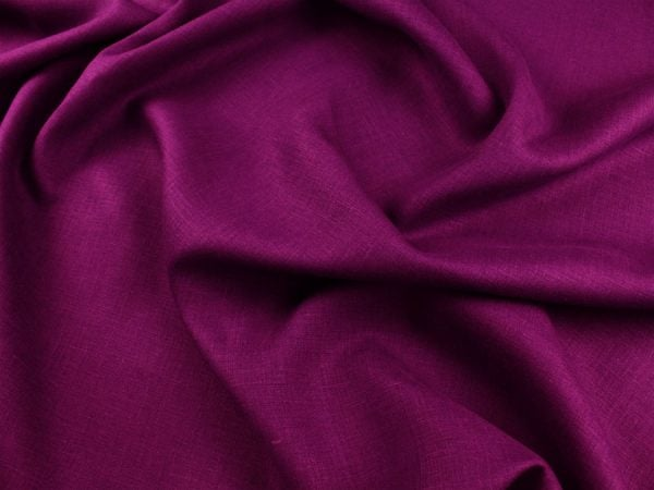 Фото 4 - Ткань льняная  темно-фиолетовая, умягченная лен 100%.
