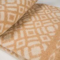 Фото 11 - Одеяло, шерстяное 170*205 жаккард, бежевое.