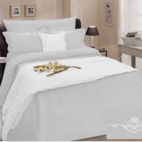 Фото 19 - Комплект постельного белья 100% лен евро серый.